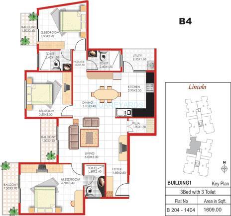 concorde manhattans apartment 3bhk 1609sqft1