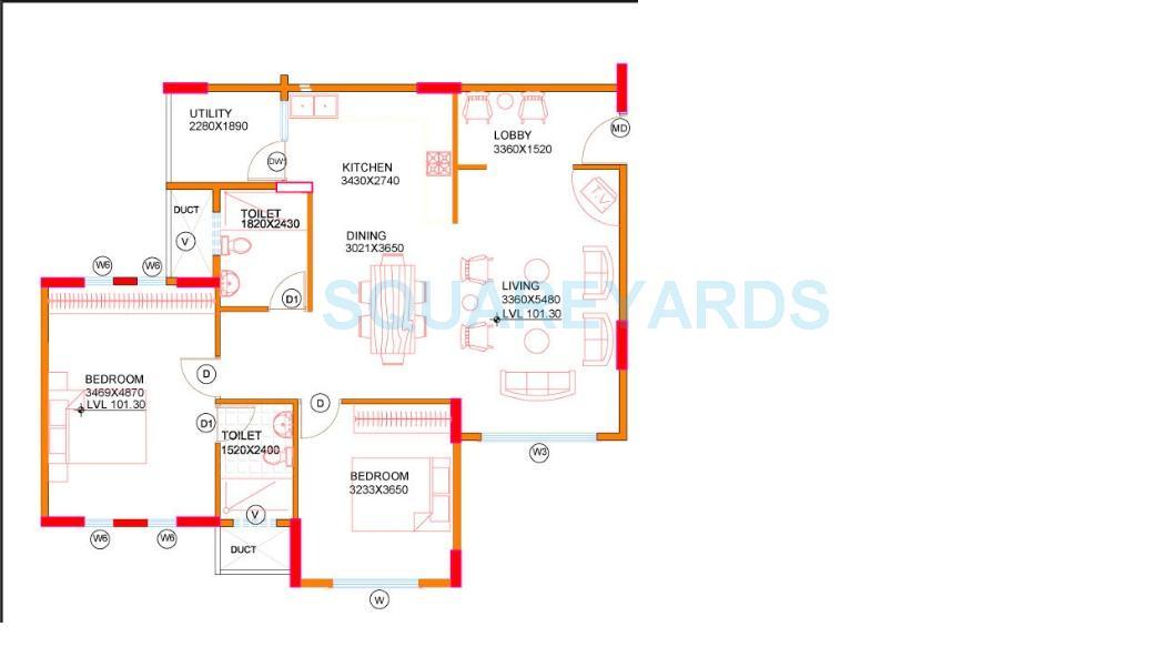 concorde midway city apartment 2bhk 1247sqft1