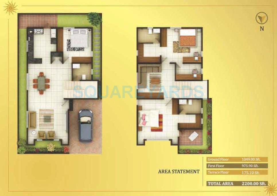 concorde royal sunnyvale villa 3bhk 2200sqft1