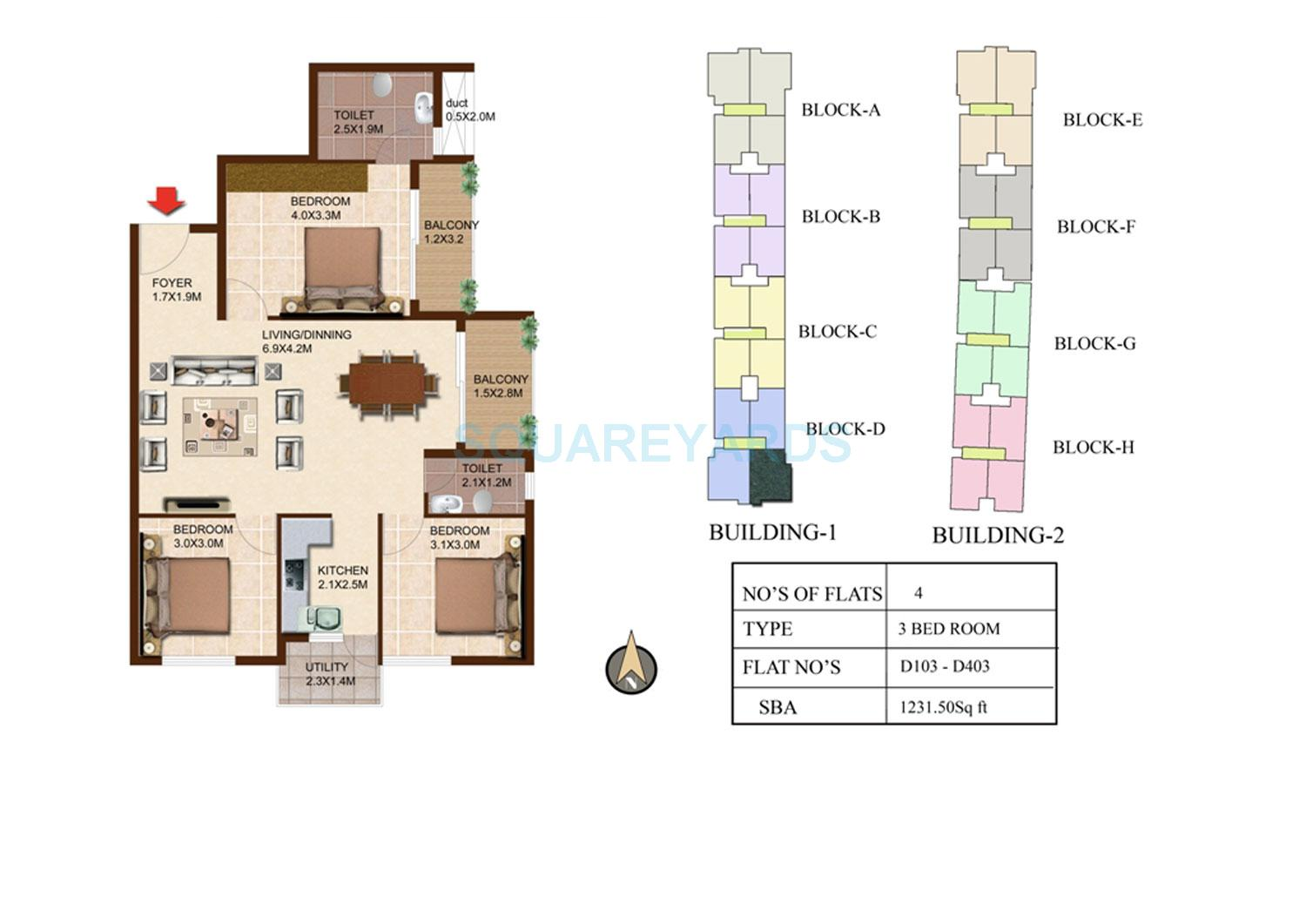 concorde south scape apartment 3bhk 1231sqft1