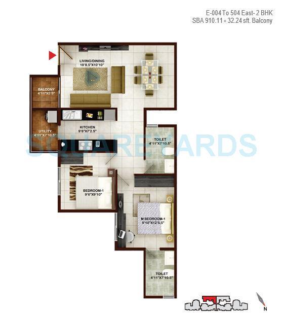 concorde tech turf apartment 2bhk 910sqft1
