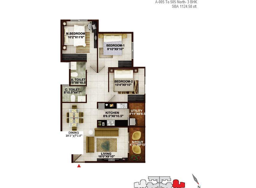 concorde tech turf apartment 3bhk 1124sqft1