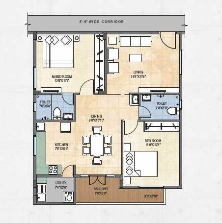 creative shree vikas apartment 2 bhk 1160sqft 20210328110345