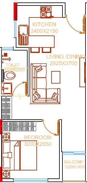 damden vivo apartment 1bhk 534sqft 1