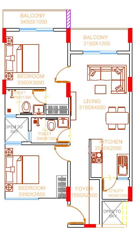damden vivo apartment 2bhk 906sqft 1