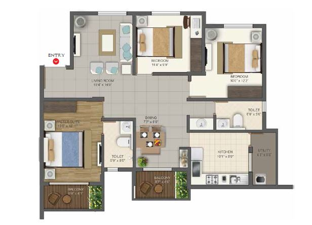 deccan habitat apartment 3bhk 1500sqft131