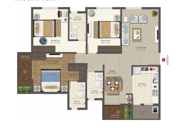 deccan habitat apartment 3bhk 1600sqft131