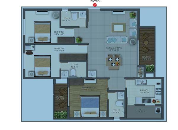 deccan habitat apartment 3bhk 1680sqft131