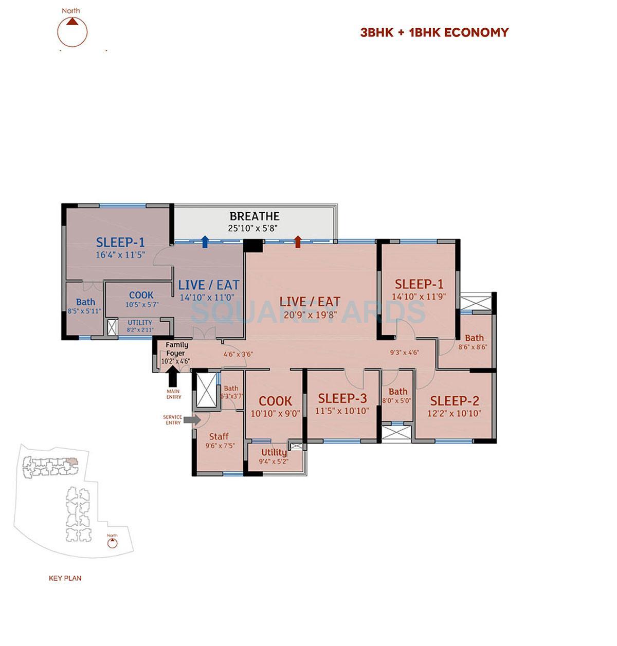 divya sree 77 degree place apartment 3bhk 2885sqft 1