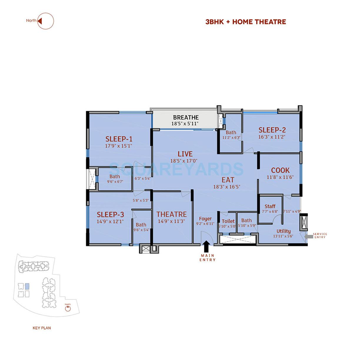 divya sree 77 degree place apartment 3bhk 3253sqft 1