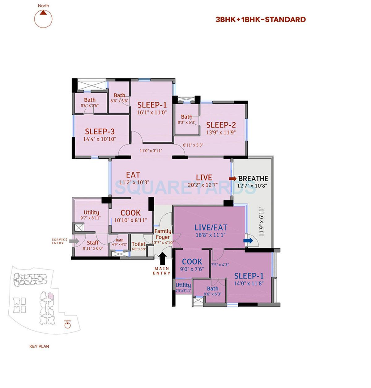 divya sree 77 degree place apartment 3bhk 3334sqft 1