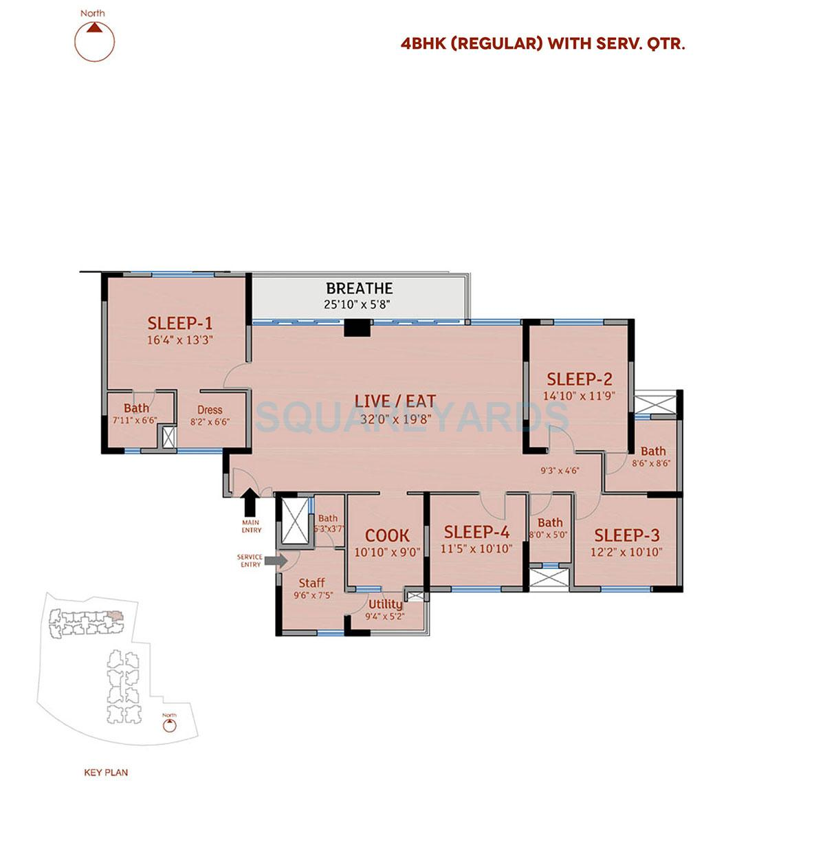 divya sree 77 degree place apartment 4bhk 2978sqft 1