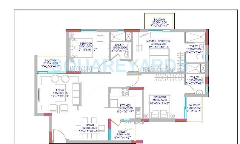 dlf maiden heights apartment 2bhk 913sqft1