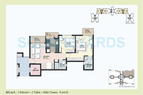 dlf maiden heights apartment 2bhk 923sqft1