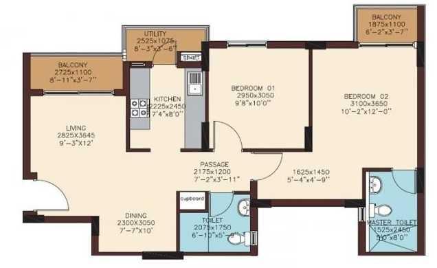 dlf woodland heights apartment 2 bhk 912sqft 20201109131136