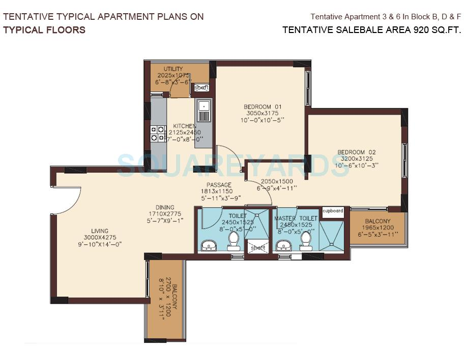 dlf woodland heights my town apartment 2bhk 920sqft1