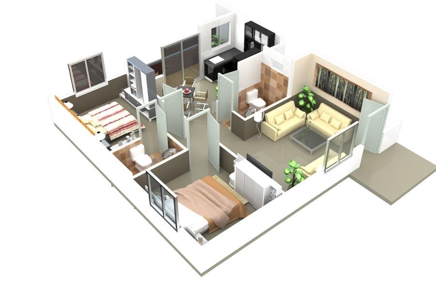 ds max samruddhi apartment 2bhk 1080sqft91