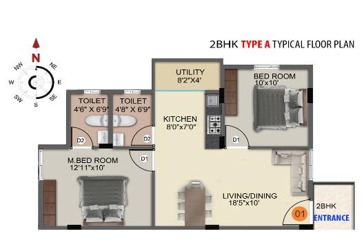 ds max sista nest apartment 2 bhk 1232sqft 20200127070102
