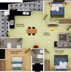 ds max sonata nest apartment 3 bhk 1430sqft 20214710104701