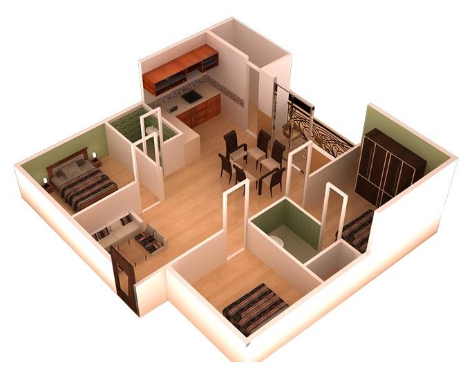 ds max spark nest apartment 3bhk 1615sqft31