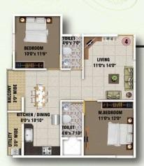 ds max sunrise apartment 2 bhk 874sqft 20200516120541