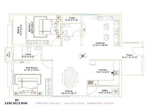 ecolife elements of nature akash block apartment 2 bhk 1330sqft 20205503105516