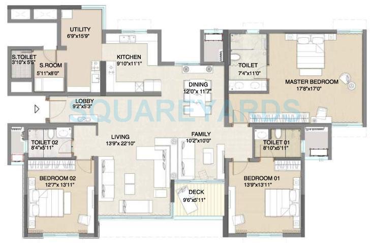 embassy pristine apartment 3bhk 2697sqft1