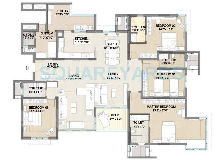 embassy pristine apartment 4bhk 3633sqft1