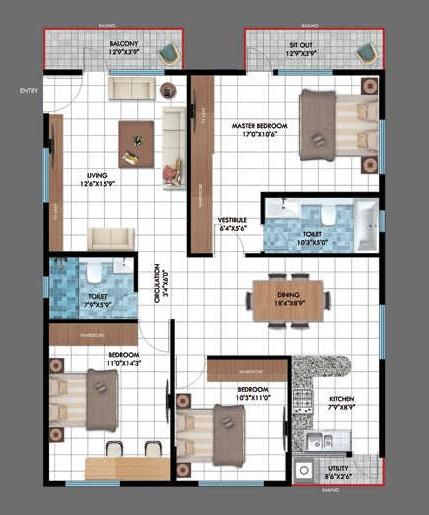emerald estancia apartment 2bhk 1012sqft91