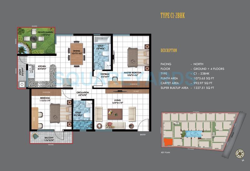 emerald estancia apartment 2bhk 1227sqft1
