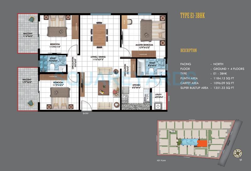 emerald estancia apartment 4bhk 1346sqft1