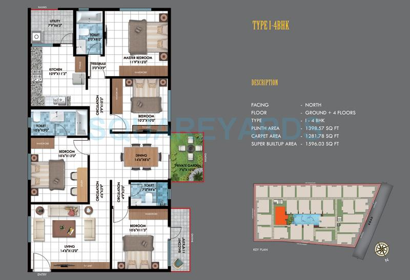 emerald estancia apartment 4bhk 1596sqft1