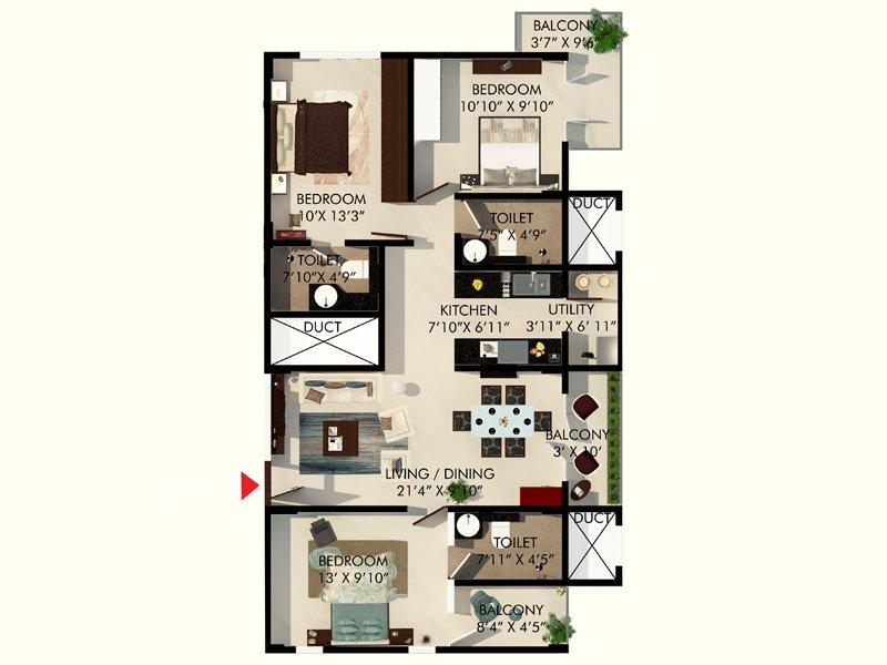 eminence park apartment 3 bhk 1224sqft 20202306142321