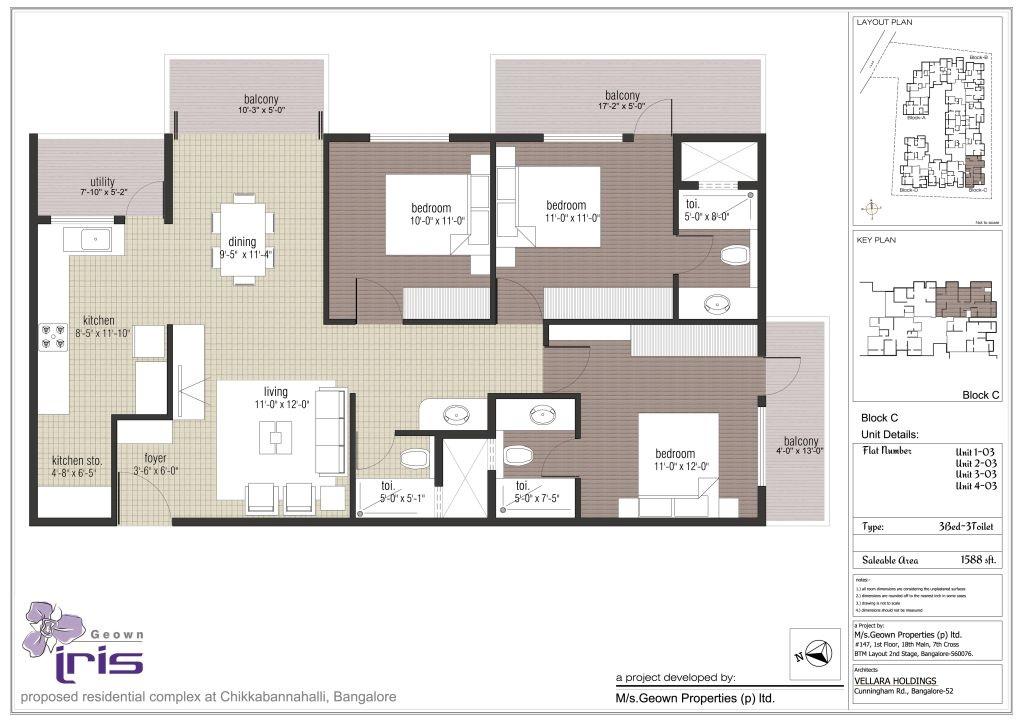 geown iris apartment 3bhk 1588sqft71