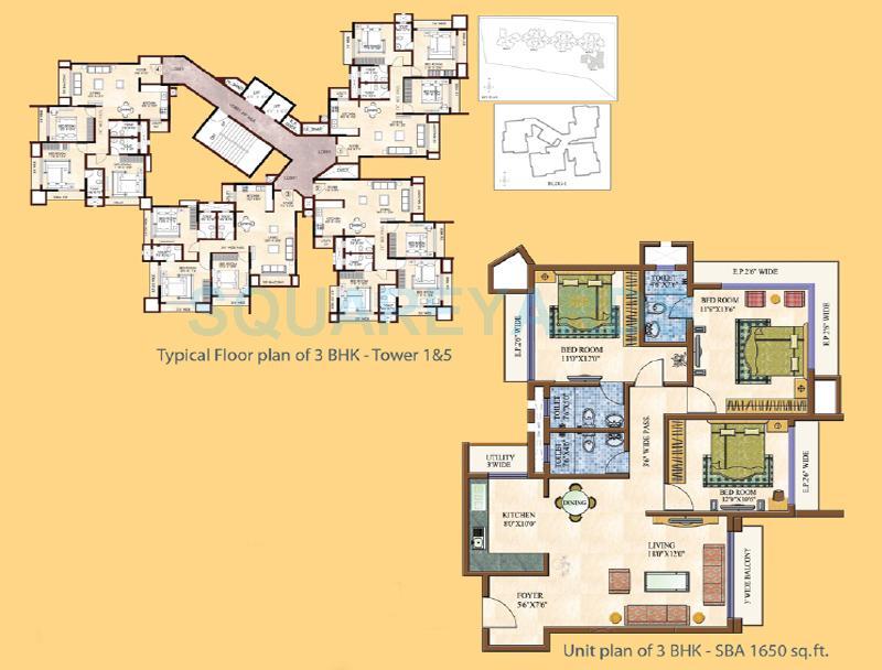 gm infinite daffodils apartment 3bhk 1650sqft 1