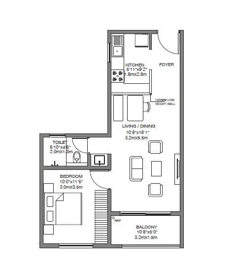 godrej 24 sarjapur apartment 1bhk 721sqft 1