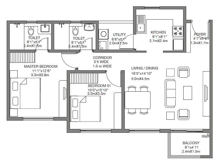 godrej 24 sarjapur apartment 2bhk 1114sqft 1