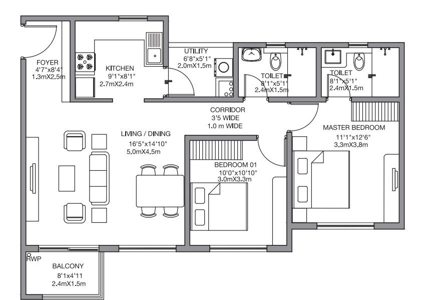godrej 24 sarjapur apartment 2bhk 1131sqft91