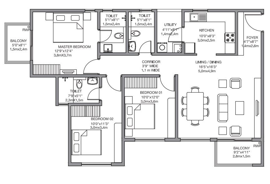 godrej 24 sarjapur apartment 3bhk 1581sqft81