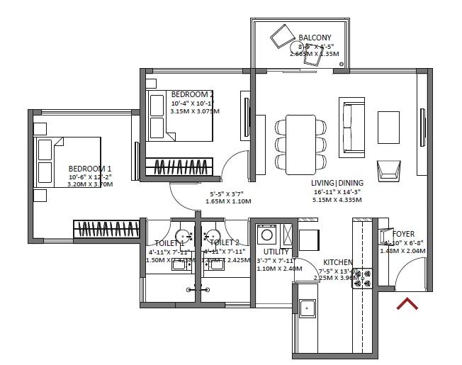 godrej air apartment 2bhk 1132sqft 1