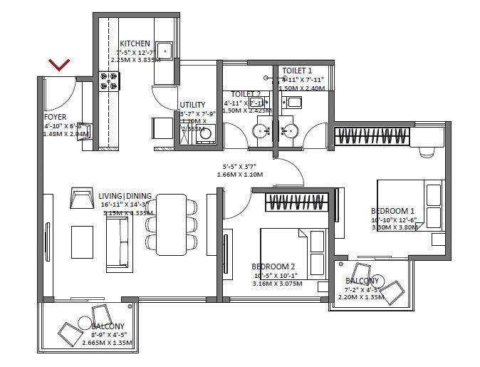 godrej air apartment 2bhk 1196sqft 1