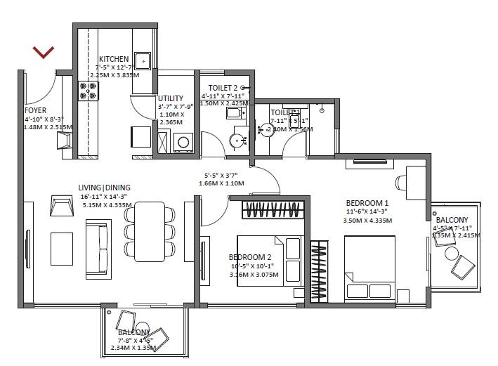 godrej air apartment 2bhk 1250sqft 1