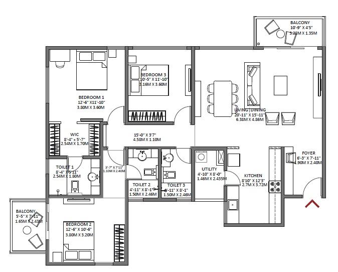 godrej air apartment 3bhk 1860sqft 1