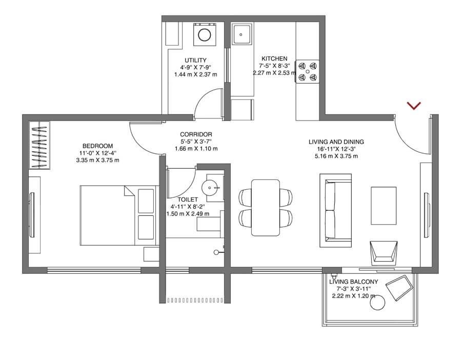 godrej air nxt apartment 1bhk 510sqft 61