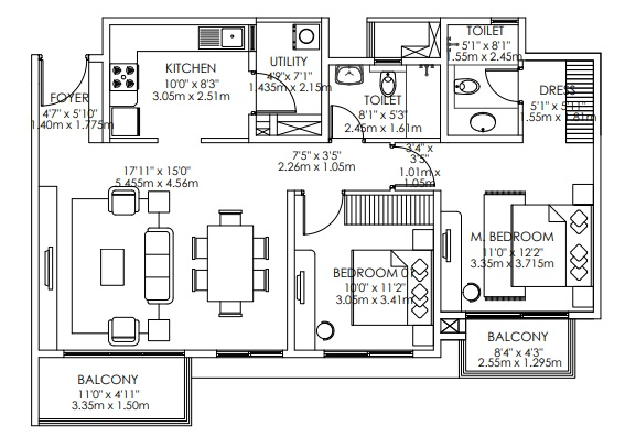 godrej aqua apartment 2 bhk 1266sqft 20211303111304