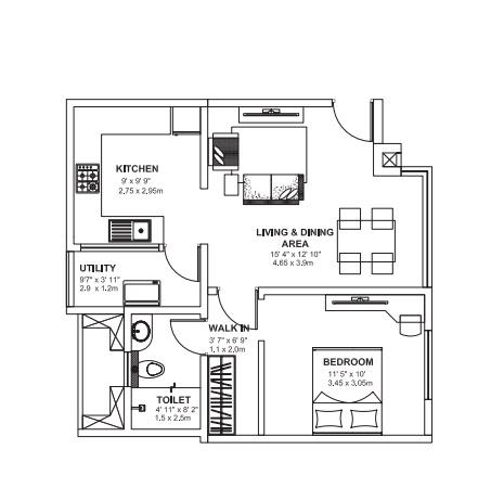 godrej avenues apartment 1bhk 710sqft 61