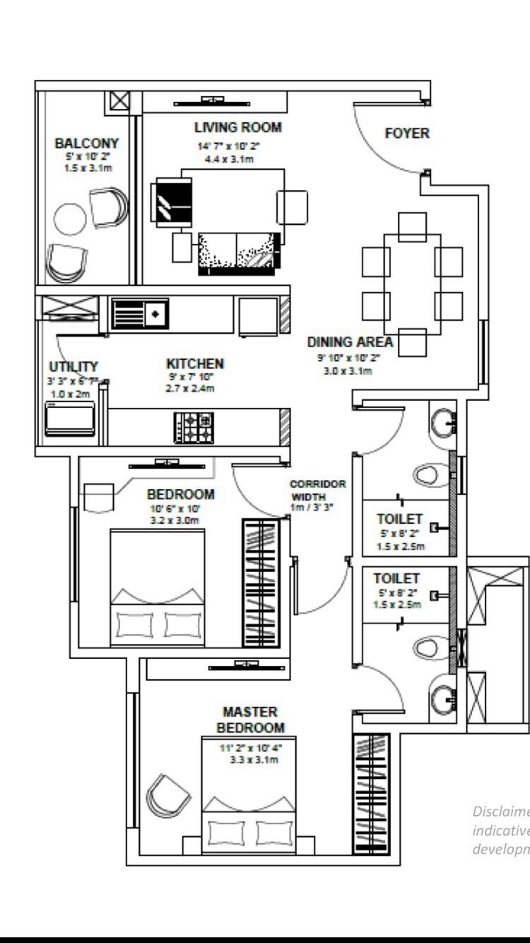 godrej avenues apartment 2bhk 1024sqft 1