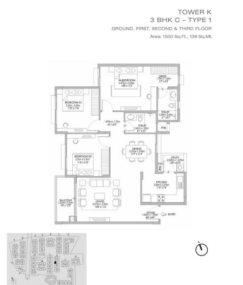 godrej eternity apartment 3bhk 1500sqft 51