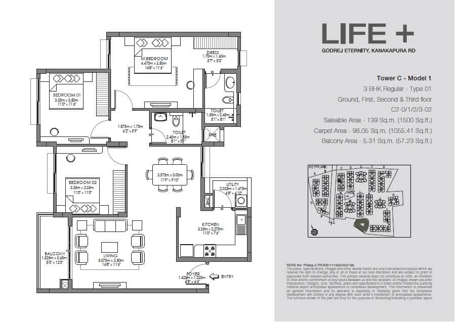 godrej eternity life plus apartment 3bhk 1500sqft 1