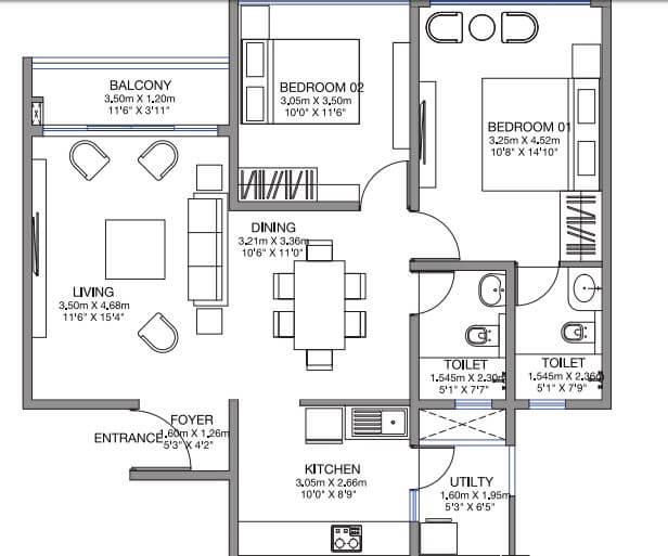 godrej lake gardens apartment 2bhk 1262sqft 1